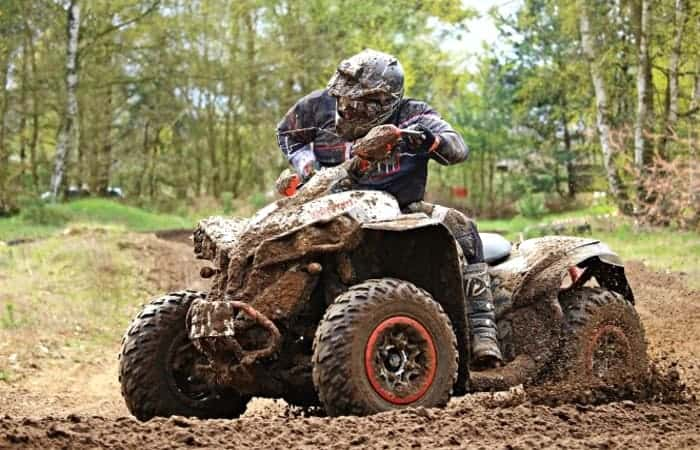 Riding ATV in the Mud
