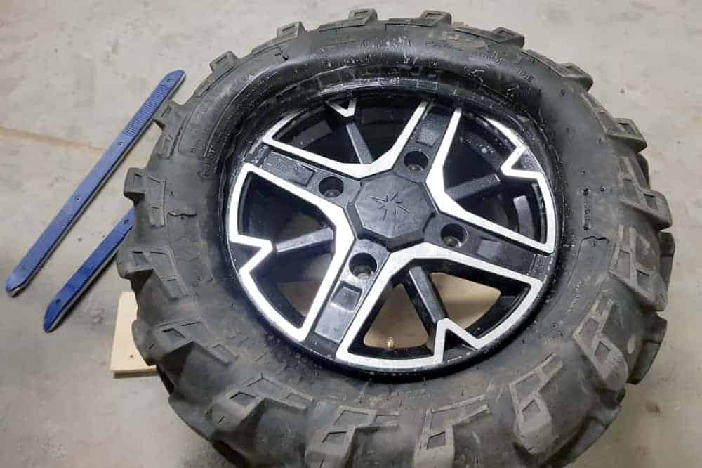 remount atv tire by hand