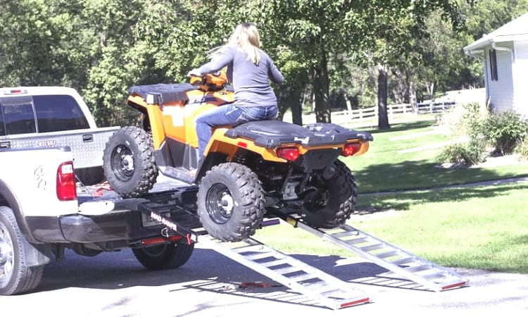 Placing the ATV Ramp in right way